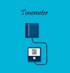 tonometer arterial blood pressure measuring vector image
