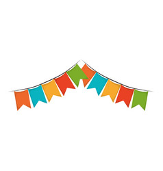 white background with colorful festoons in shape vector image vector image