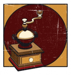 Coffee mill grunge vector