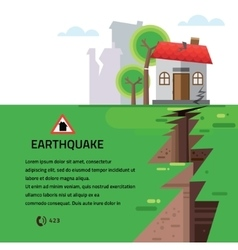 Earthquake insurance colourful vector