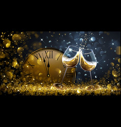 Twelve o Clock on New Year s Eve vector image