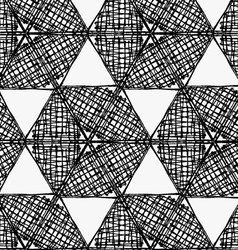 Black marker scribbled hexagons in row vector
