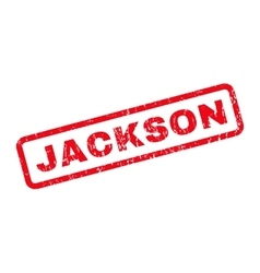 Jackson rubber stamp vector