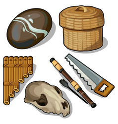 Elements and objects of the ancient ages vector