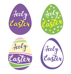 Collection of easter eggsr religious symbol of vector