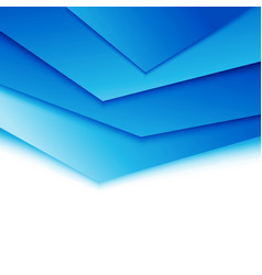 bright blue layered modern concept vector image