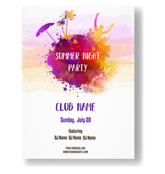 poster template for summer party vector image
