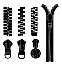 Zipper design vector