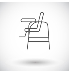 Chair for baby vector