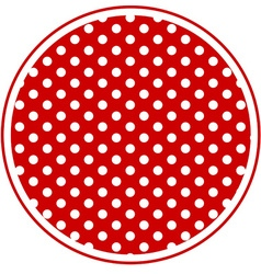 Polka dot round background vector