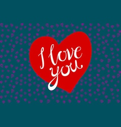 Vintage retro design eps 10 i love you red heart vector