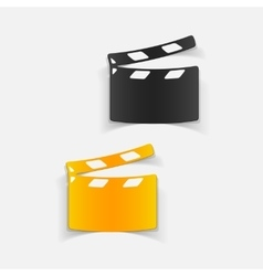 Realistic design element clapper cinema vector