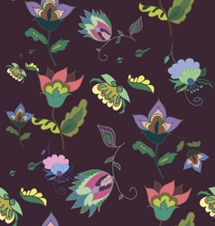 Beautiful dark floral seamless pattern vector