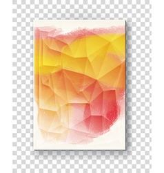 Brochure with multicolored blured backgrounds vector