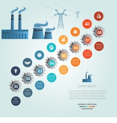 industrial infographic 8 vector image