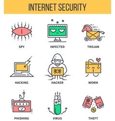 Internet security computer protection cyber vector