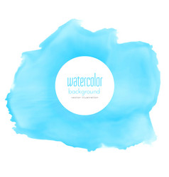 abstract blue watercolor stain background vector image vector image