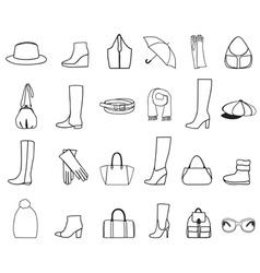 Accessories vector image vector image