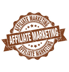 Affiliate marketing stamp sign seal vector