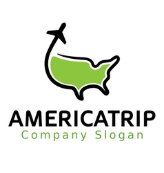 American Trip vector image