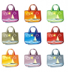 bags set vector image vector image