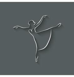 Ballerina dancing studio symbol vector