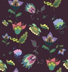 Beautiful dark floral seamless pattern vector image vector image