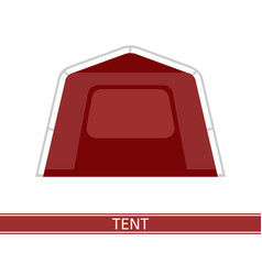 camping tent icon vector image vector image