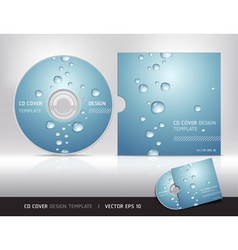 Cd cover design with water drop vector