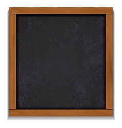 Chalkboard wood frame isolated on white background vector image vector image