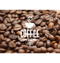 coffee bean background 1505 vector image vector image