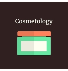 Colored facial cream like cosmetology vector