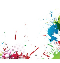 Colourful bright ink splat design vector image