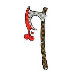 comic cartoon viking axe vector image vector image