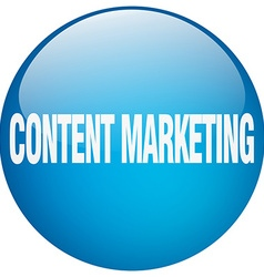 Content marketing blue round gel isolated push vector
