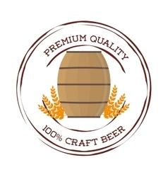 craft barrel beer premium quality vector image