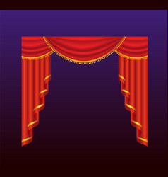 Curtains - realistic red drapes vector