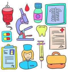 Doodle of object medical design vector
