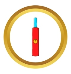 Electronic cigarette icon vector