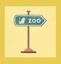 Flat shading style icon zoo sign vector