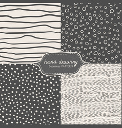 Hand drawing seamless pattern with dash scribble vector