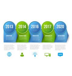Infographics timeline template 5 steps vector