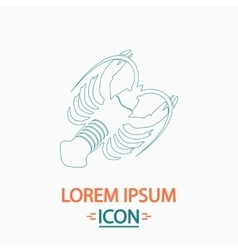 Lobster computer symbol vector