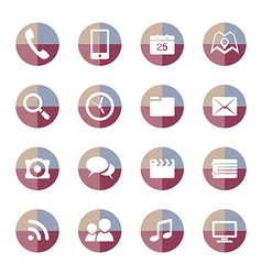 Mobile Applications icons set 2 vector image vector image