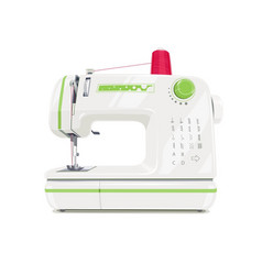 Modern sewing machine with red vector