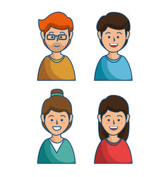 People group avatars icon vector