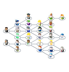 People network graphic vector