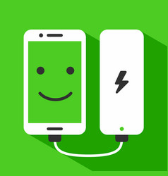 Phone charging with power bank vector