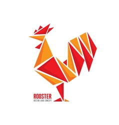 Red fiery rooster symbol 2017 new year vector