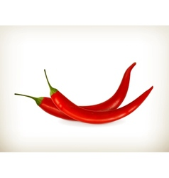 Red peppers vector image vector image